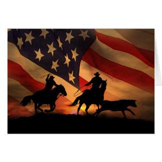 Tarjeta El empleado occidental del vaquero le agradece