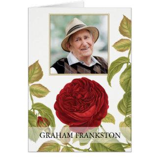 Tarjeta El entierro botánico del rosa rojo le agradece