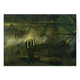 Tarjeta El envío de las cenizas de Napoleon a bordo