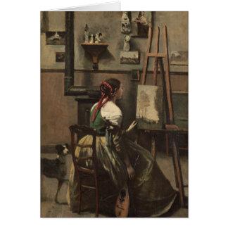 Tarjeta El estudio del artista