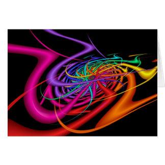Tarjeta El extranjero agita arte abstracto colorido