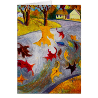 Tarjeta El extremo del otoño