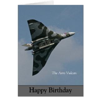 Tarjeta El feliz cumpleaños de Avro Vulcan