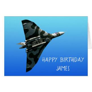 Tarjeta El feliz cumpleaños de Avro Vulcan personalizado