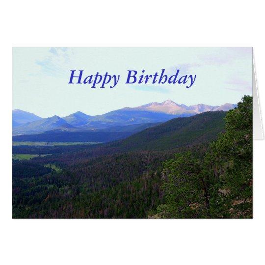 Tarjeta El feliz cumpleaños, desea pico, Colorado