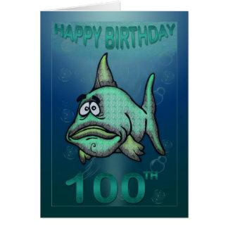 Tarjeta El feliz cumpleaños envejece el 100o cumpleaños de