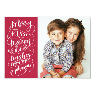 Tarjeta El feliz día de fiesta de los besos desea la foto