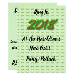 Tarjeta El fiesta de 2018 Años Nuevos/invitación de