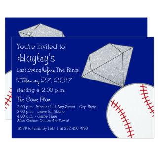Tarjeta El fiesta de Bachelorette del béisbol invita por