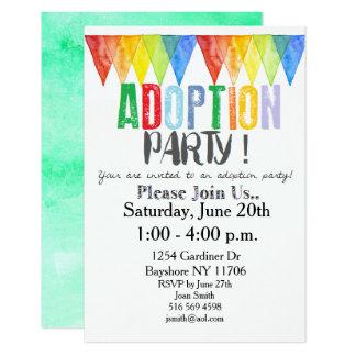 Tarjeta El fiesta de la adopción invita