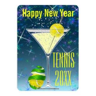 Tarjeta El fiesta del Año Nuevo de Martini del tenis