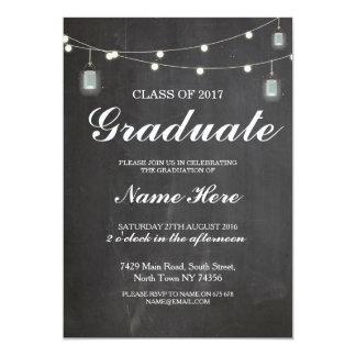 Tarjeta El fiesta del graduado de la graduación enciende