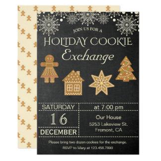 Tarjeta El fiesta del intercambio de la galleta del día de