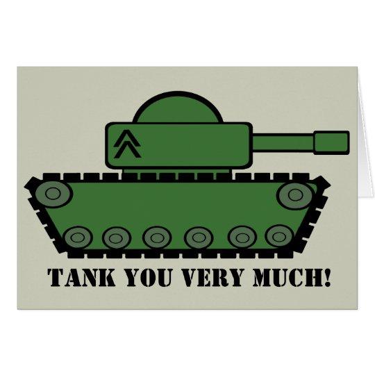 Tarjeta El fiesta del tanque le agradece