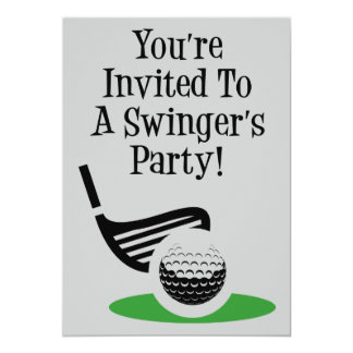 Tarjeta El fiesta divertido del libertino del golf invita