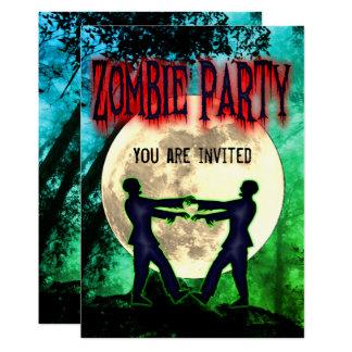 Tarjeta El fiesta divertido del traje del zombi de