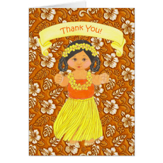 Tarjeta El fiesta hawaiano de Luau le agradece las