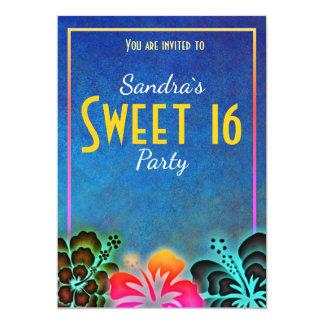Tarjeta El fiesta loco del dulce 16 de Noen invita