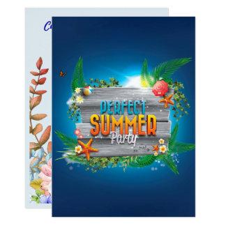 Tarjeta El fiesta perfecto tropical del verano invita