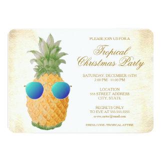 Tarjeta El fiesta tropical de la piña el | del navidad