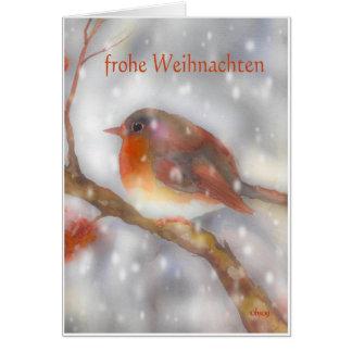 Tarjeta el frohe weihnachten Felices Navidad alemanas