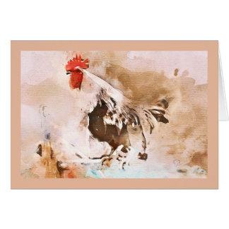 Tarjeta ¡el gallo rojo viejo!
