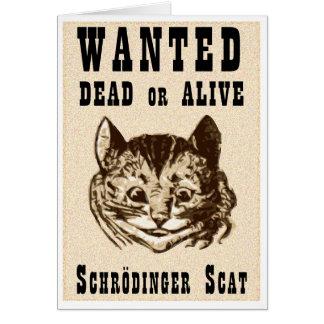 Tarjeta El gato de Shrodinger quiso el poster
