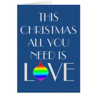 Tarjeta El gay clásico y elegante orientó navidad