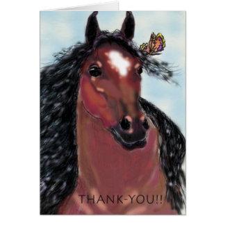 Tarjeta El Gelding y mariposa del de agradecimiento