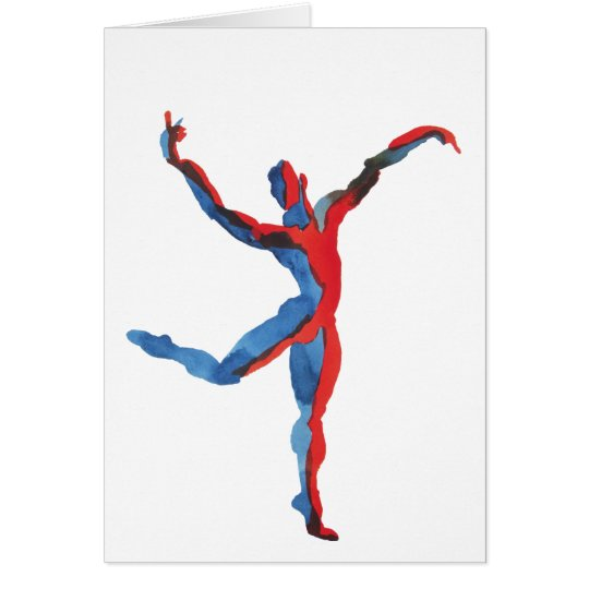 Tarjeta El gesticular del bailarín de ballet