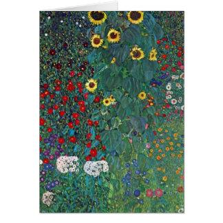 Tarjeta El girasol por Klimt, vintage de Farmergarden w