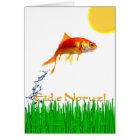 Tarjeta El Goldfish que salta el Año Nuevo Eid e Noruz de