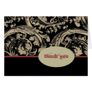 Tarjeta El gótico rojo de marfil negro le agradece