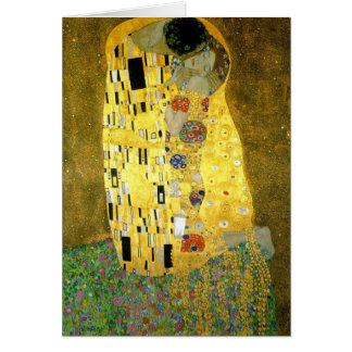 Tarjeta El ~ Gustavo Klimt del beso