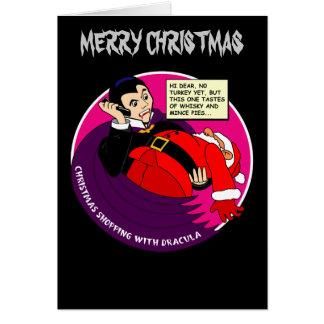 Tarjeta El hacer compras del navidad de Drácula