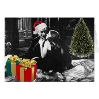 Tarjeta El hombre que se ríe de navidad con amor