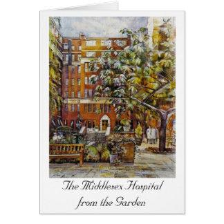 Tarjeta El hospital de Middlesex del jardín Notelet