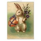 Tarjeta El huevo de Pascua del conejito de pascua del