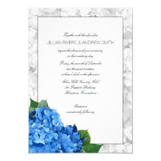 Tarjeta El Hydrangea azul enmarcó acodado casando la