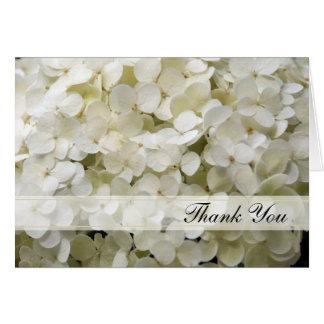 Tarjeta El Hydrangea blanco le agradece