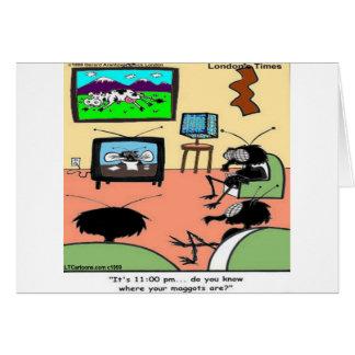 Tarjeta El insecto Parents el dibujo animado divertido