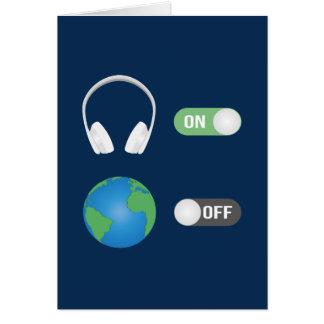 Tarjeta El interruptor de la música