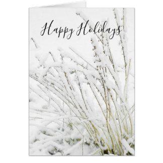 Tarjeta El invierno congelado nieve del navidad ramifica