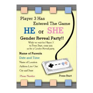 Tarjeta El jugador del videojugador género de 3 fiestas de