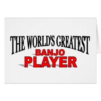 Tarjeta El jugador más grande del banjo del mundo