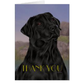 Tarjeta El labrador retriever negro le agradece