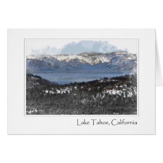 Tarjeta El lago Tahoe California en el invierno