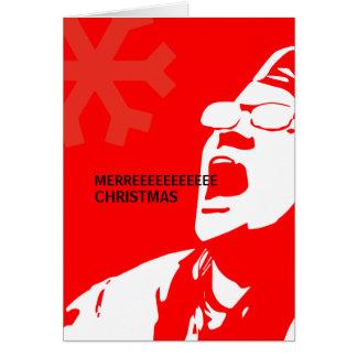 Tarjeta El liberal rasga el navidad de Merreeeee de las