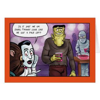 Tarjeta El lifting facial Halloween de Franky