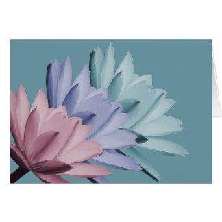 Tarjeta El lirio de agua colorido florece la moda de la